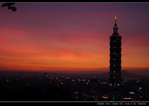Taipei 101 Skyscraper Sunset