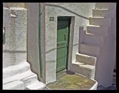 Green Door, Skyros Town (Stephen Stills) Tags: door house green island greek 645 shadows steps entrance greece bronica whitewash skyros zenza