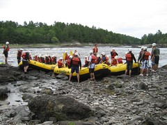 Rafts ready to launch (S and T) Tags: rafting ottawariver whitewaterrafting riverrun
