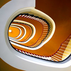 stairs in orange (sediama (break)) Tags: stairs germany hannover treppe explore staircase staircases treppenhaus sediama bysediamaallrightsreserved
