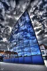 In Tune (Einar Ragnarsson) Tags: sky reflection canon hospital denmark bravo 1022mm hdr odense einar fyn funen sygehus 5exp 123faves 400d aplusphoto top20blue
