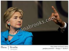 Hillary and Obama (SFMONA) Tags: chicago illinois politics photojournalism documentary relationship conference hillaryclinton democrats liberal debate progressive barackobama handgestures yearlykos ykos diamondclassphotographer flickrdiamond superhearts yk07