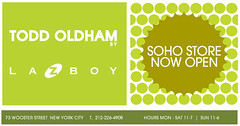 Open (eyewashdesign: A. Golden) Tags: nyc green promotion retail poster golden store flyer soho 2006 oldham todd lazboy toddoldham alane alanegolden eyewashdesign promotionalmaterial
