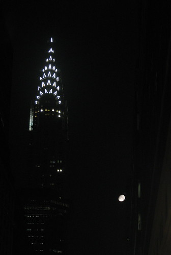 Chrysler Building and the Moon
