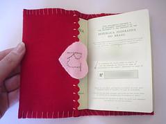 My Passport Case (Roberta JM) Tags: pink red thread rj heart handmade embroidery felt case fabric button handsewn passport rikrak