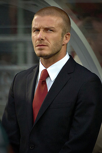 david beckham england suit. David Beckham at BMO Field