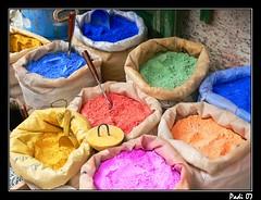 Colores (Carlos P.M.) Tags: colors colores vida marruecos tinte pintura padilla polvos sacos tintes 5for2 colorphotoaward superaplus aplusphoto