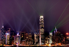 Symphony of Lights (Dave Roquel) Tags: longexposure hk art colors skyline buildings d50 hongkong lights evening seaside nightshot central nikond50 lasers flickrcentral lightshow metropolitan hdr harborfront slowexposure ifc2 symphonyoflights businesscenter nikor supershot 10faves hsbcmainbuilding flickrsbest highdefinitionrange abigfave ifc1 chinabanktower theunforgettablepicture