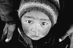 Eyes of Innocence (© Poras Chaudhary) Tags: portrait blackandwhite bw india kid eyes ladakh tenzing sarchu littlestories top20childhallfame realityoflife fpggold onwaytoleh picswithsoul mastersoflifegallery alemdagqualityonlyclub