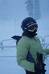 Skiing in a Storm (melissemarie1) Tags: winter snow skiing meadows mthood blizzard facemask