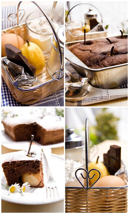 Torta di Pere e Cioccolato (collage)