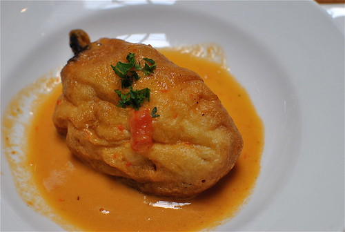 chile relleno with crab