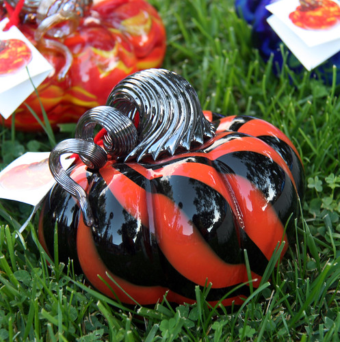 IMG_6014 black and red stripe glass pumpkin