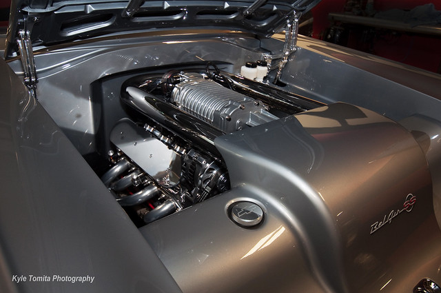 Supercharged LS1 powering a beautiful custom 57 BelAir SS