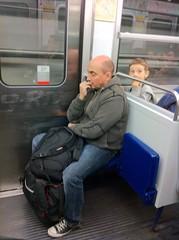 Meanwhile, On Metro (davitydave) Tags: travel boy man paris france male train subway child publictransportation metro passenger metropolitan nailbiting gadling trainstalking frommers
