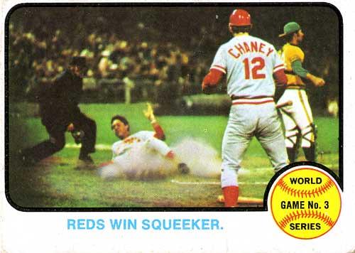 1972 World Series Game 1 CD A/'s 3 Reds 2 Ken Holtzman Gene Tenace 2 HR Vida Blue