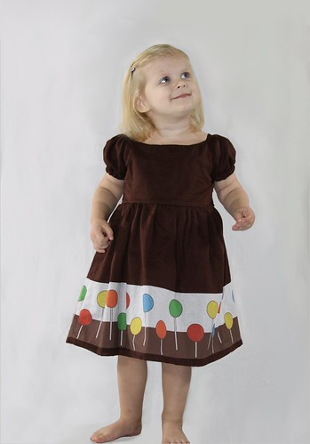 Boutique Original Fabric Design Lollipop Dress