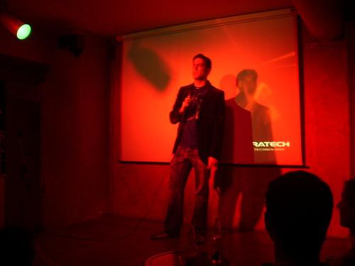 Ciro presentando su corto Made in Japan