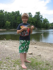 Barefoot Boy with Fish