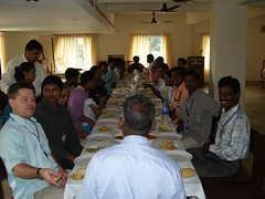 Closing meal at the CSC India conference - table fit for King's kids!