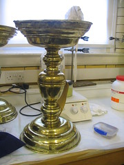 Candlestick after conservation treatment