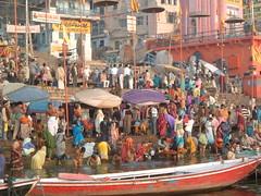 Varanasi, DASASVAMEDHA GHAT (tedesco57) Tags: india religious ceremony varanasi ritual bathing ghat dasasvamedha