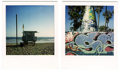 polaroids. venice beach, ca. 2007. (eyetwist) Tags: ocean venice tower beach polaroid sx70 graffiti la stand losangeles los sand diptych pacific angeles lifeguard hut pacificocean 600 modified venicebeach shack pola polaroid600 baywatch westla 2007 modded nofilter lifeguardtower timezero thepit 90291 landcamera instantfilm lifeguardhut graffitipit polaroid779 779 iso640 oceanfrontwalk eyetwist sx70landcamera venicebeachboardwalk 26thavenue zip90291 nond ave26 sx70lives sx70uses600or779 savepolaroid contactforstockusage thisimagemaybeavailableforlicensecontactformoreinfo savepolaroidcom longliveanalog veniceca90291
