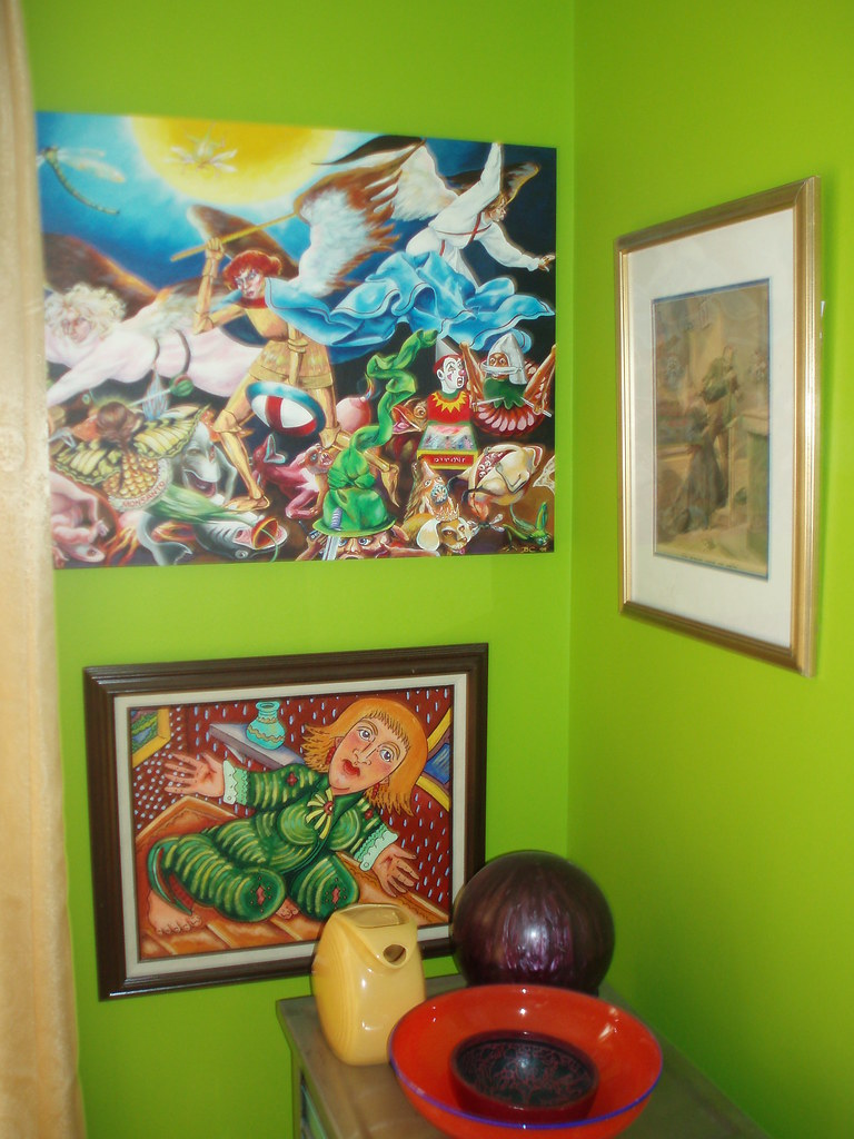 CHEZ ADDA dining room - bc &  walt evans & print