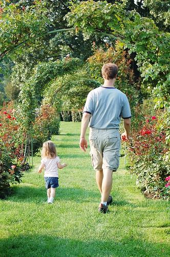 Walking in Hershey Gardens.