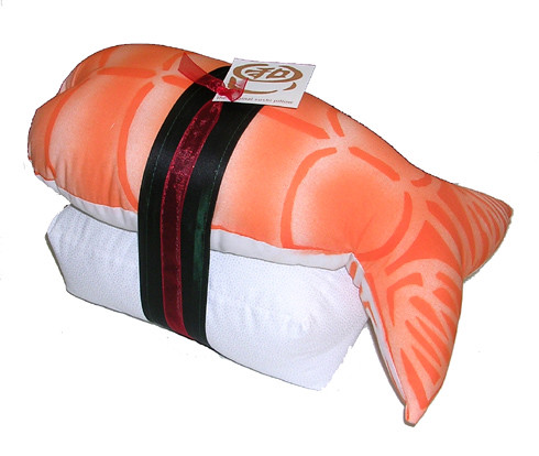 Ebi nigiri shrip w/rice cotton sushi pillow : Asian iCandy Store, Unique Asian Arts and Gifts From Independent Artists :  indie asian icandy store sushi kawaii