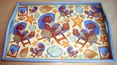 Bandeja. (naiarais) Tags: madera handmade estrellas artesania decoupage manualidades bandeja ositos hamacas hechoamano hechopornaiara
