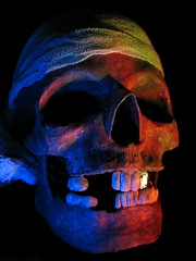 It Be Pirate Day (jciv) Tags: halloween dead skull scary shadows dramatic haunted pirate bones talklikeapirateday pirata goldtooth pirateday itlapd top20purple file:name=img2492 int412