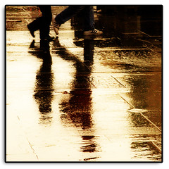 Walking in the rain. (Harald`s photo-page.) Tags: life street people reflection rain walking themoulinrouge flickrsbest artlibre infinestyle blackribbonbeauty theunforgettablepicture thechallengegame challengegamewinner