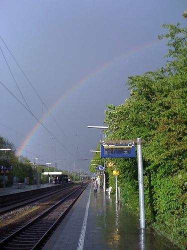 rainbow over Riem