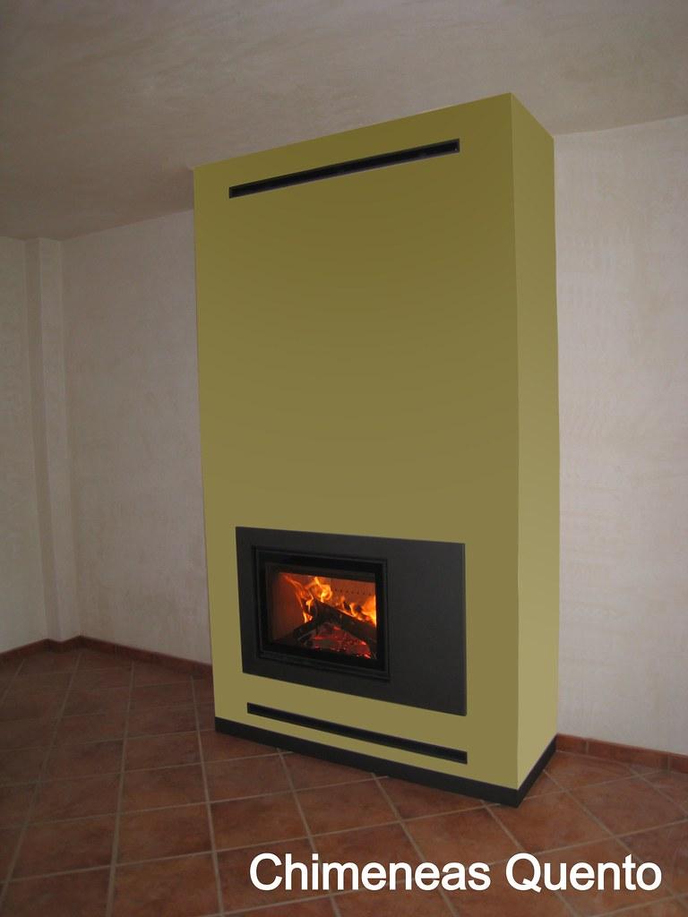 Chimenea diseo awesome cocina salon con chimenea chimenea - Chimeneas quento ...
