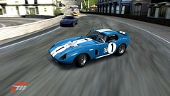 shelby daytona in the lead (jsayer) Tags: blue light blackandwhite white 3 black blur game car contrast race speed corner dark drive cool focus shiny exposure driving steering side fast calm racing forza shelby driver gt daytona lead brightness turning winning motorsport drifting drift whizz fm3 forzamotorsport gt1 shelbydaytona inthelead