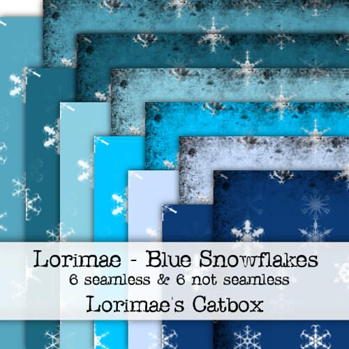 Lorimae Texture - Blue Snowflakes