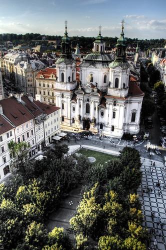 St Nicholas at Prague Old Town. San Nicolas en la Ciudad Vieja de Praga