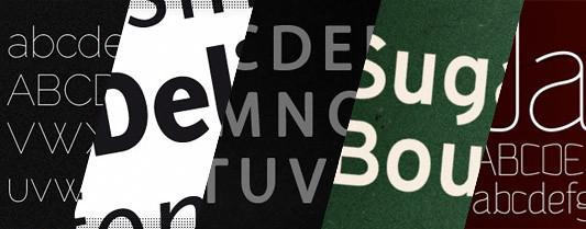 40 tipografias minimalistas para diseño web