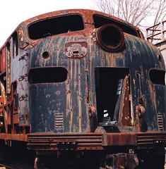 Waiting to be Restored (95wombat) Tags: newyork rust general motors locomotive corroded e8 emd penncentral duanesburg