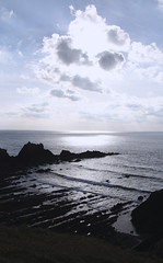 Hartland Quay (Matt.Cas) Tags: ocean sea sky sunlight nature water stone clouds reflections landscape sand rocks wildlife sealife silouette cliffs beaches naturalworld northdevon hartlandquay beachphotography