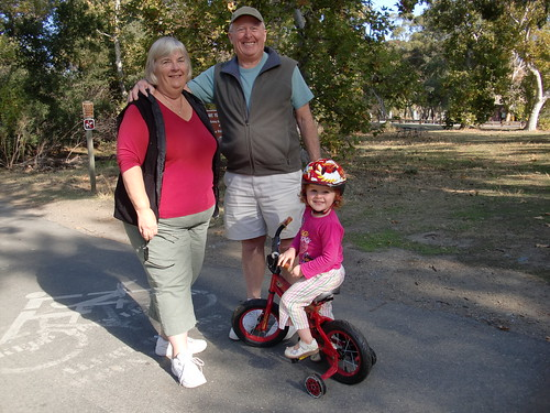 Lil' Biker and grandparents