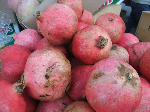 SFO Day 2: Pomegranates from the Ferry Plaza Farmers Market