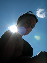 Superlaure (Ali Nassiri) Tags: sky sun france sunglasses laure acloud