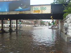 Sidewalk Flooded too (mikepix) Tags: chicago flood sony cellphone