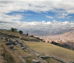 Sacsayhuamán over Cusco - by Luke Redmond
