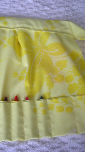 butterfly crayon apron