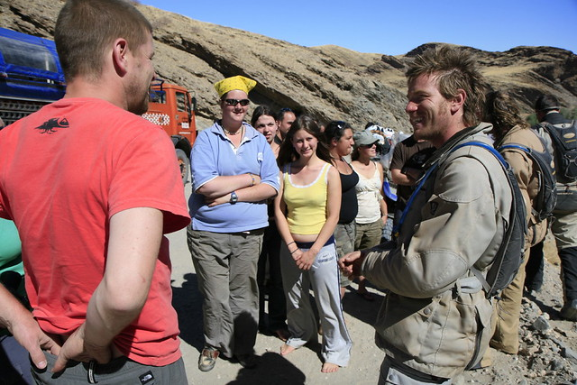 Chatting with Ewan McGregor and Charley Boorman in the Namibian desert by Wanderer and Wonderer