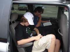 Boys in Mini van