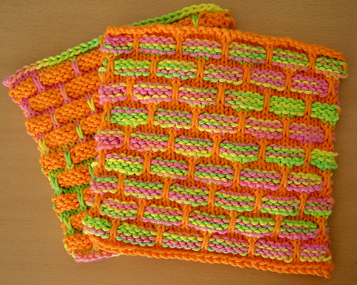 Dishcloth - Orange-y Clash-y